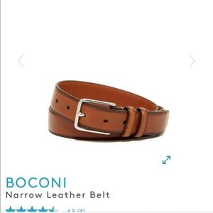 Men's Boconi narrow leather belt